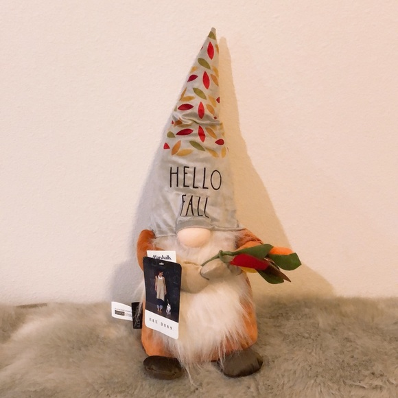 Rae Dunn Gnome Doll Hello Fall new
